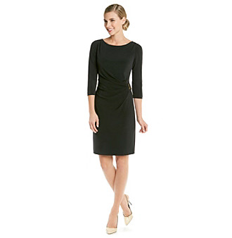 Black Dress Shop on Little Black Dresses Tahari By Arthur S Levine Buckle Ruched Dress