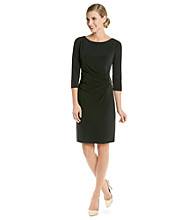 Tahari by Arthur S. Levine® Buckle Ruched Dress