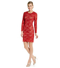 Jax All-Lace Sheath with Contrasting Under Dress