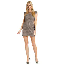 Jax Cap Sleeve Metallic Lace Shift