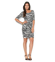 Lauren Ralph Lauren Zebra Print Sheath Dress