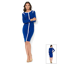 Lauren Ralph Lauren Two-Tone Contrast Sheath Dress