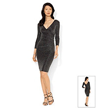 Lauren Ralph Lauren Metallic Knit Sheath