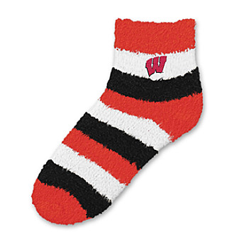 For Bare Feet University of Wisconsin Sleep Soft Socks