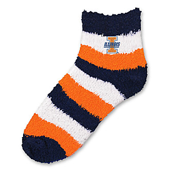 For Bare Feet University of Illinois Sleep Soft Socks