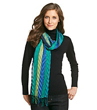Collection 18 Chevron Multi Stripe Neckwrap