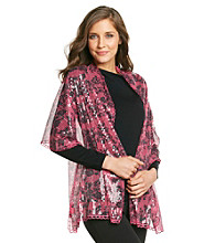 Betsey Johnson® Pink Floral Sequin Evening Wrap