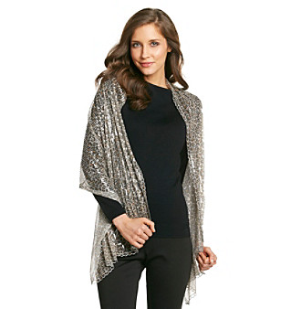 Betsey Johnson® Brown Leopard Sequin Evening Wrap