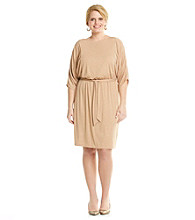 Jessica Howard® Plus Size Blouson Tie Waist Dress