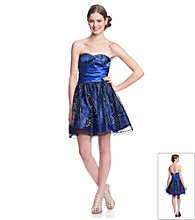Hailey Logan Juniors' Glitter Party Dress