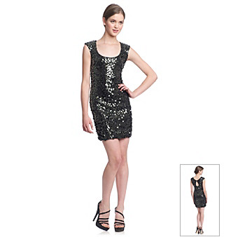 Bee Darlin' Juniors' Sequin Scoopneck Dress