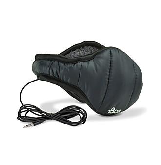 180s® Men's Black Down-Blend Ear Warmers with Headphones