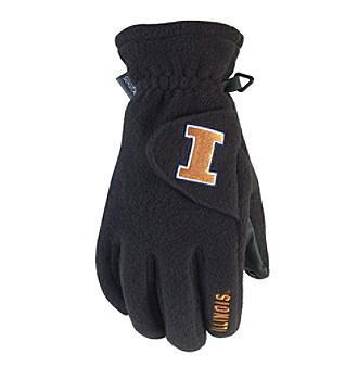180s Men's Black NCAA Illinois Glove