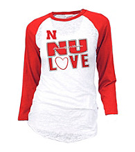 Soffe® Juniors' Nebraska Burnout Baseball Tee