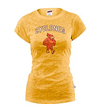 Soffe® Juniors' Iowa State Glitter Burnout Tee