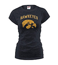 Soffe® Juniors' Iowa Glitter Burnout Tee