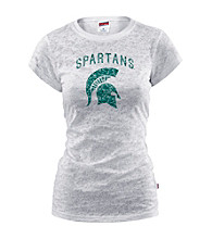 Soffe® Juniors' Michigan State Glitter Burnout Tee