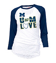 Soffe® Juniors' Michigan Burnout Baseball Tee