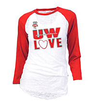 Soffe® Juniors' Wisconsin Burnout Baseball Tee