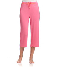Relativity® Knit Sleep Capris - Rio Pink