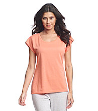 Relativity® Dolman Sleeve Solid Top - Coral Ice