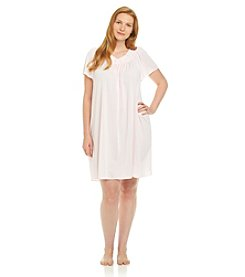 Miss Elaine® Plus Size Short Tricot Gown