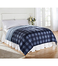 LivingQuarters Blue Buffalo Check Reversible Microfiber Down-Alternative Comforter