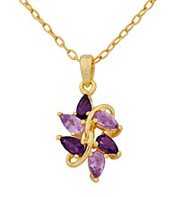 18K Pear Shaped Amethyst Pendant
