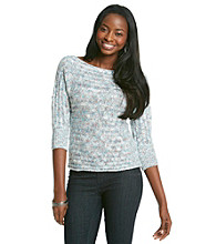 Nine West Jeans Lynn Multi-Colored Dolman Sweater