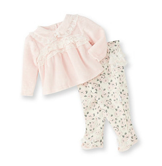 Vitamins Baby® Baby Girls' Pink 2-pc. Floral Superplush Set