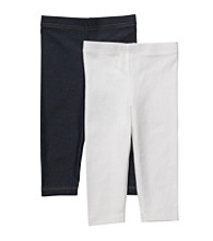 Carter's® Girls' 2T-4T White/Denim 2-pk. Leggings
