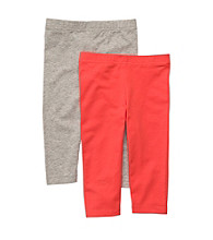 Carter's® Girls' 4-6X Orange/Grey 2-pk. Leggings