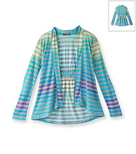 Eyeshadow® Girls' 7-16 Long Sleeve Striped Cozy