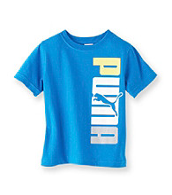 PUMA® Boys' 8-20 Blue Short Sleeve Sided Tee