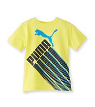 PUMA® Boys' 8-20 Yellow Short Sleeve Racing Tee