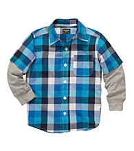 OshKosh B'Gosh® Boys' 2T-7 Blue Plaid Woven