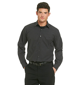 Rock this slim fit shirt with confidence. Whether you pair it with jeans or khakis, you can't go wrong with this plaid shirt from Van Heusen.