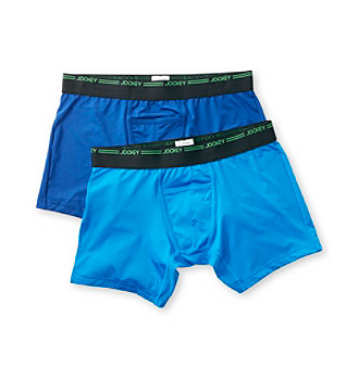 Jockey® Men's Balanced Blue/Blue Curacao Sport Performance 2-Pack Boxer Brief