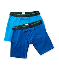 Jockey® Men's Balanced Blue/Blue Curacao Sport Performance 2-Pack Midway Brief
