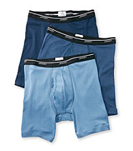 Jockey® Men's Blue Cotton 3-Pack Low-Rise Midway Briefs