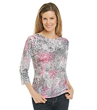 Breckenridge® Petites' Sublimated Crewneck Tee