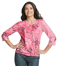 Breckenridge® Petites' Sublimated V-Neck Tee