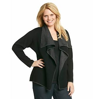 Calvin Klein Collection Plus Size Flyaway Sweater