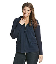 Jones New York Signature® Plus Size Zipper-Front Jacket