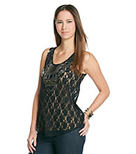 Romeo & Juliet Couture® Embellished Lace Tank