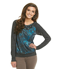 Awake Top with Beaded Neckline
