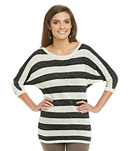 Romeo & Juliet Couture® Striped Shimmer Sweater