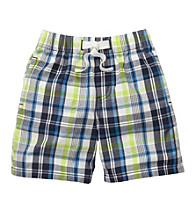OshKosh B'Gosh® Boys' 2T-4T Blue Plaid Pull-On Shorts