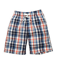 OshKosh B'Gosh® Boys' 4-7 Blue Plaid Pull-On Shorts