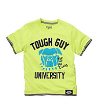 OshKosh B'Gosh® Boys' 2T-4T Neon Green Short Sleeve Tough Guy Tee
